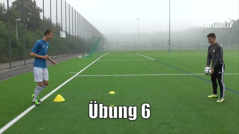 Fussballtraining_ Hohe Zuspiele Teil 1 - Ballkontrolle - Technik