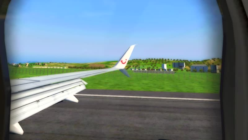 WINDY LANDING IN CORFU / X-PLANE 11