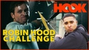 NAILING Robin Hood Trick Shots in Archery Tag (Taron Egerton Challenge) | The Hook