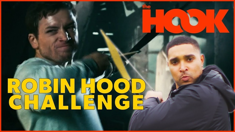 NAILING Robin Hood Trick Shots in Archery Tag (Taron Egerton Challenge) | The Hook