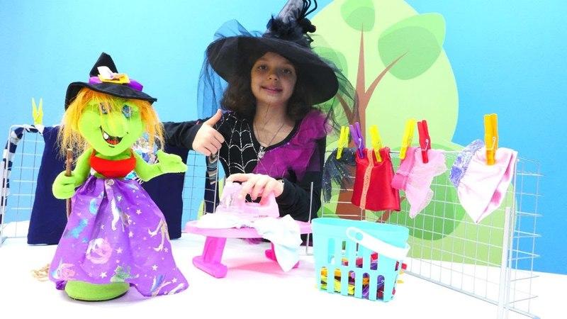Cadı Katy ütü yapıyor Evcilik kız oyunu
