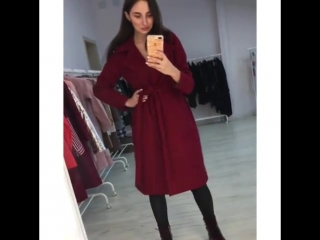 Суперское пальто цвета «марсала»☺️ ▫️ размер: 42,44 цена:3990₽ ▫️ ещё цвета : голубой , нежно -розовый , коричневый ▫️ пришли в