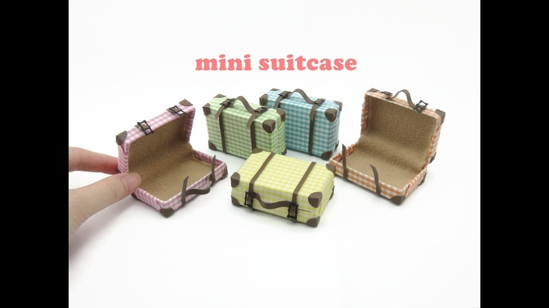 DIY Miniature Doll Mini Suitcase Bag
