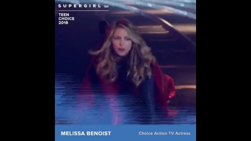 Оф. аккаунт Супергерл поздравляет Мелиссу