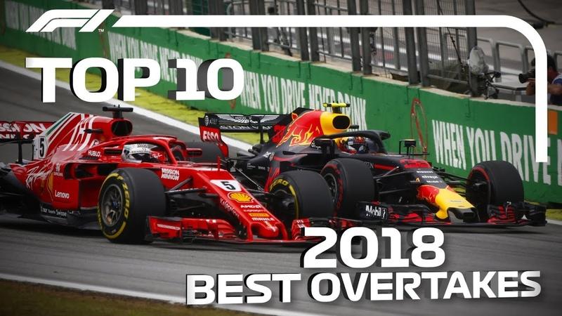 Топ-10 лучших обгонов Формулы-1 в сезоне-2018