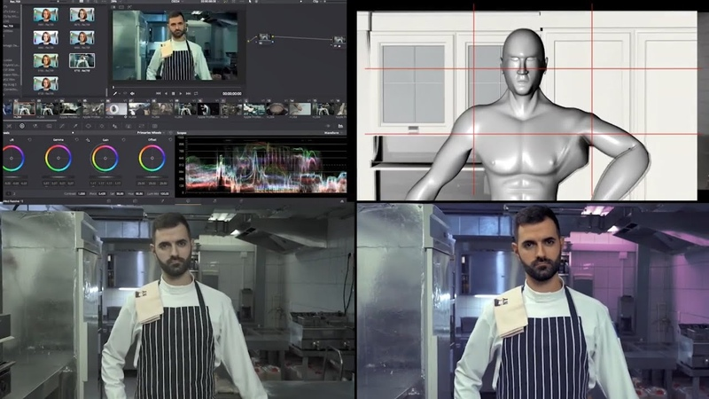 CHEF colorgrading previsualisation raw final render