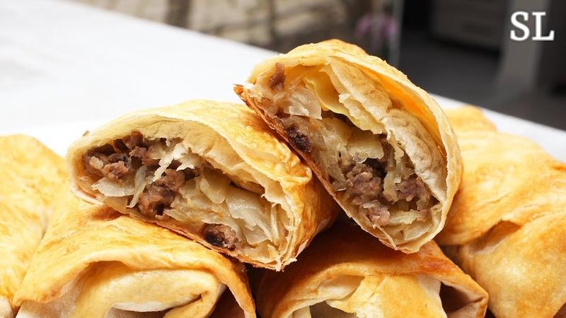 Быстрые Пирожки с Капустой и Мясом. Пирожки из Лаваша. Вкуснятина БЕЗ Вреда для Фигуры!