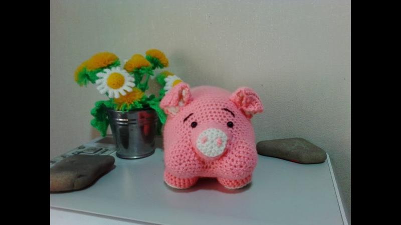 Обаяшка поросенок, ч.1.Charming piggy, р.1. Amigurumi. Crochet. Амигуруми. Игрушки крючком.