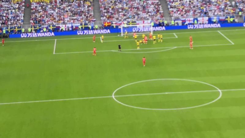 1й гол Англии в матче против Швеции