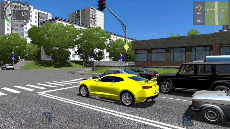 City Car Driving - Chevrolet Camaro | Normal Driving