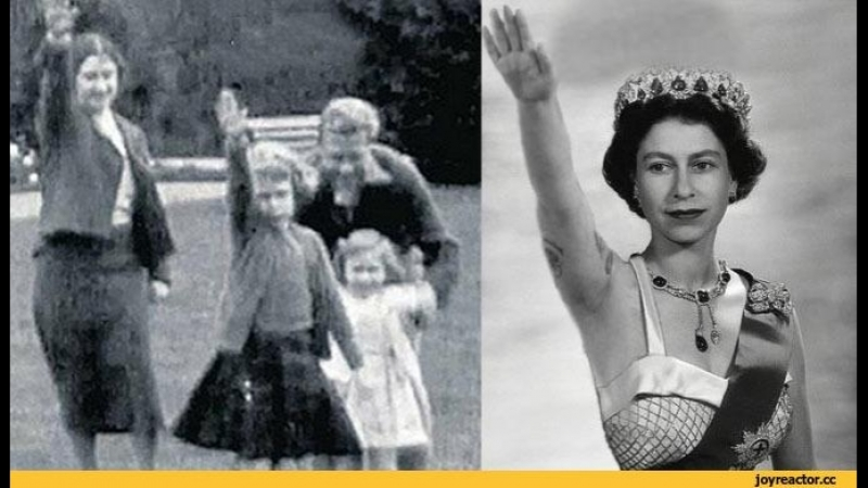№3 Англия: Алекс Джонс_ Нацистские связи британской королевской семьи INFOWARS.SU Зигующая королева