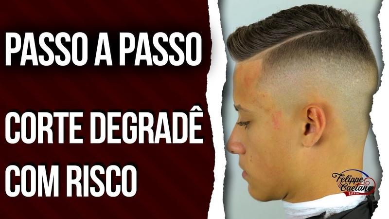CORTE PASSO A PASSO DEGRADÊ COM RISCO