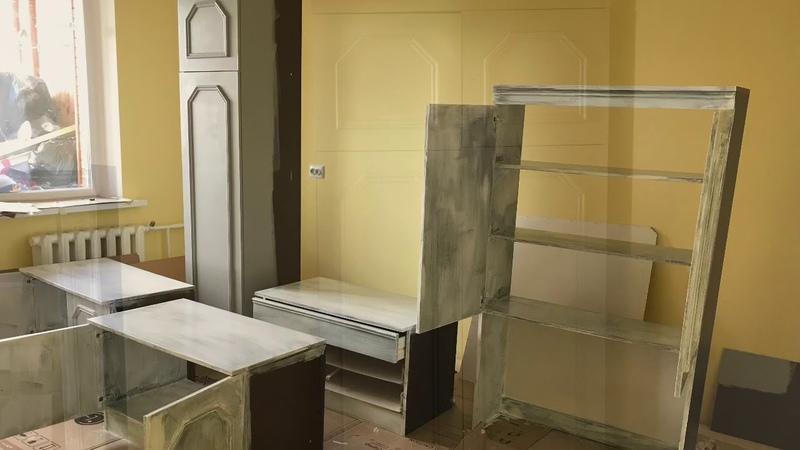 Как Перекрасить переделать Старую Мебель Реставрация мебели Перекраска стенки