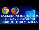 EXCLUINDO HISTORICOS DE NAVEGAÇÕES DE COMPUTADORES DE TERCEIROS.