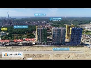 ЖК «Legenda Комендантского» от застройщика Legenda (аэросъемка: июнь 2018 г.)