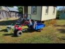 На тракторе
