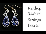 How to Make Teardrop Earrings with Pear Briolette - Wire Wrapped Jewelry Tutorial