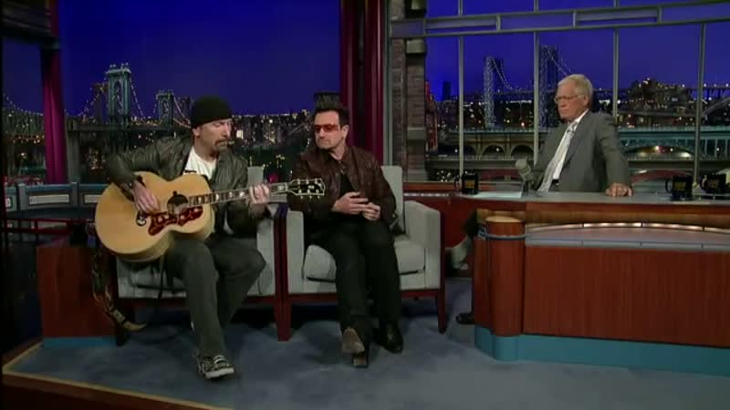 U2 - Bono The Edge Perform Stuck In a Moment on David Letterman
