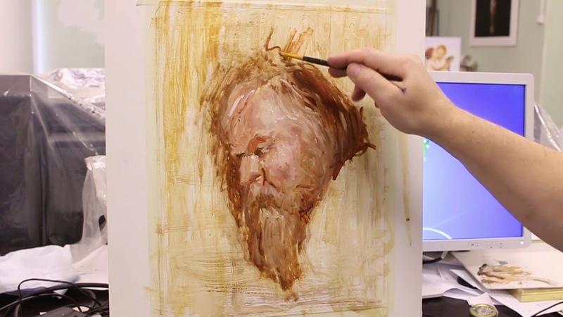 Самый дешевый холст для тренировки в масляной живописи Птичку жалко