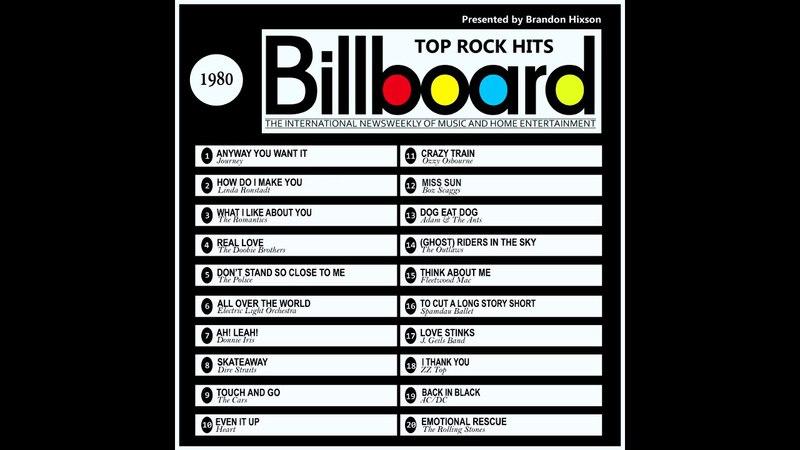 Billboard Top Rock Hits - 1980