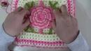 Çiçek Desenli Fıstıklı Kare Lif Modeli - Bölüm 1 ♥