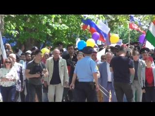Шествие участников XI Республиканского интернационального фестиваля
