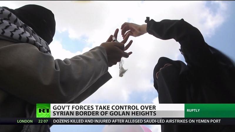 SYRIA GOLAN HEIGHTS BORDER UNDER GOV'T CONTROL.