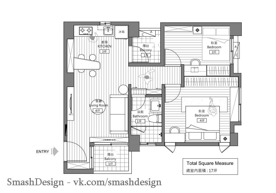 Маленькая квартира, Тайвань.