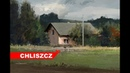 Photoshop CC digital painting - Rural landscape with a house