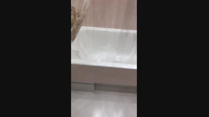 Реализация ванной комнаты в проекте White Сhocolate