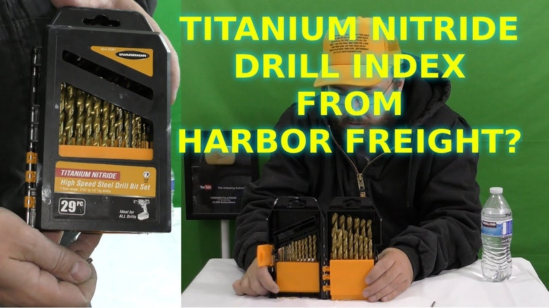 Harbor Freight Titanium Drill Bits Review Drill Index Warrior Review Bit