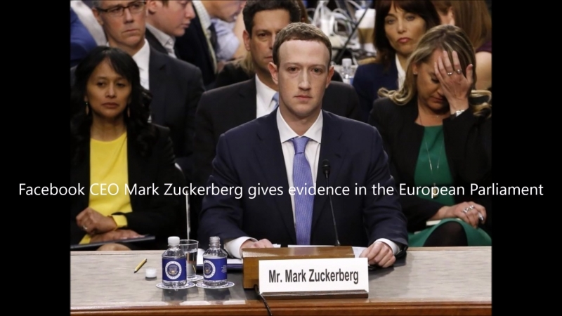 Facebook CEO Mark Zuckerberg gives evidence in the European Parliament 1080p