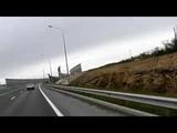 Керченский Мост.19 04 2019.Поездка в дождливую и ветреную погоду.