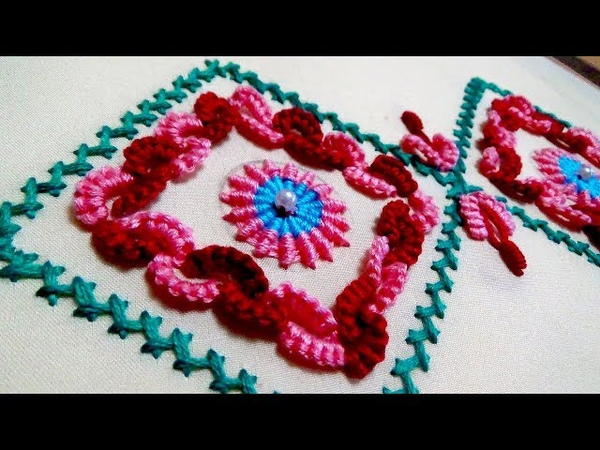Hand Embroidery Border Embroidery