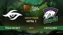 Team Secret vs Virtus.pro карта 1, The Kuala Lumpur Major Плей-офф