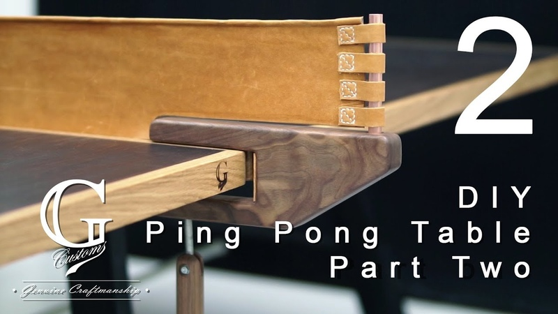 Making - Ping Pong Table - Part two Leather net and net holder