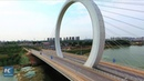 Aerial view of Ring bridge in Zhengzhou, China