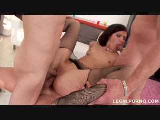 Lina Arian - first DP with gapes, 3 swallow, ball deep anal fucking GIO041 [2015, Gonzo, Gangbang, Anal, DP, 720p]
