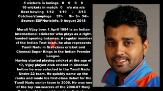 Murali Vijay Indian Cricketer Biography With Detail