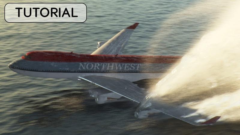 Large Water Simulation Phoenix FD Tutorial Splash Foam