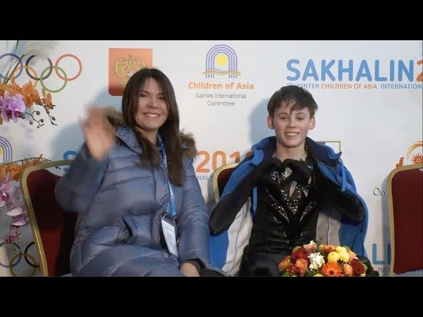 Алексей УСТАЛОВ I Winter Children of Asia Games Junior Men SP
