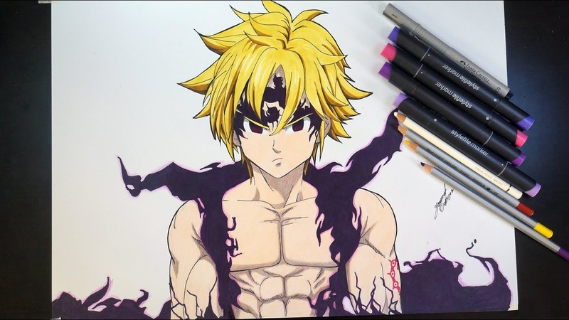 Drawing Meliodas Assault Mode From The Seven Deadly Sins / Nanatsu No Taizai