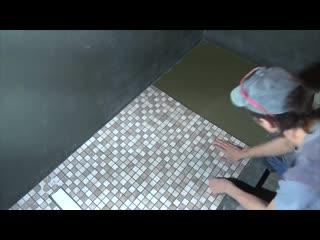 Легко делаем сложную плитку! душевой поддон своими руками! часть 3