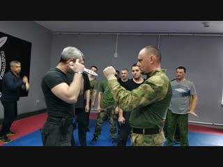 Тактика ближнего боя Семинар Нож Обратный хват Подрезы контроль