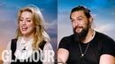 Aquaman's Jason Momoa Is Amber Heard's Cleavage Goals | GLAMOUR UK