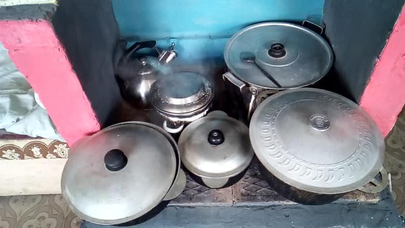 Печь ML3.0, отопительная с двумя варочными(влазит 6 кастрюль, можно приготовить на 10 персон)также бак на 200л воды( круглые сут
