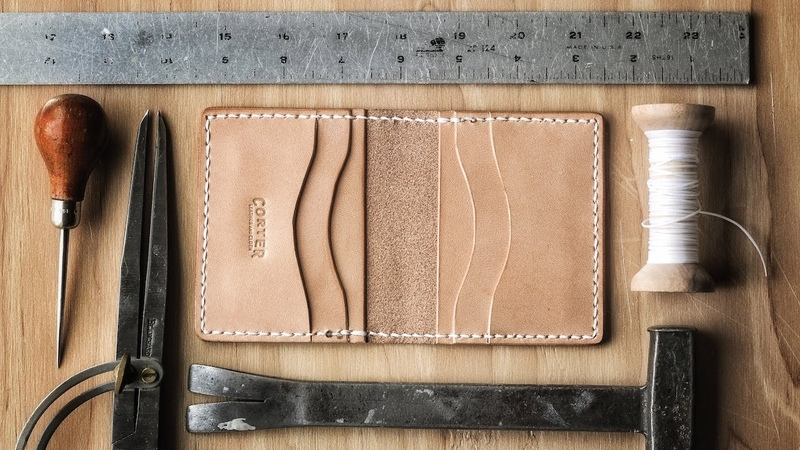 Making a Leather Card Wallet