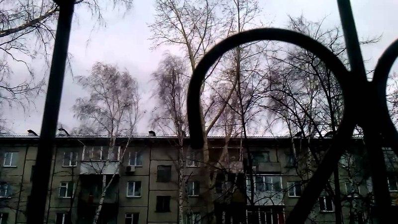 Ураган в Новосибирске 19.04.2015