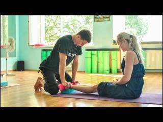 тренер Марина Реброва на МК по акробатике