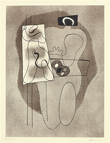 Художник с палитрой. Willi Baumeister (German, 1889–1955)